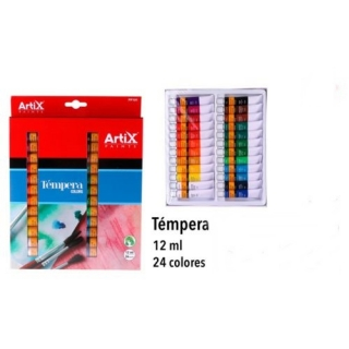 Tempera colors - ARTIX set (12ml/24ks)