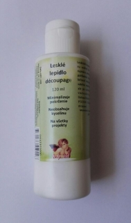 Lesklé lepidlo decoupage (120ml)