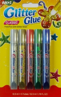 Amos - glitter glue classic 10,5ml 5ks